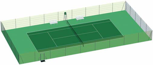 Cloture tennis cloture court de tennis grillage tennis for Eclairage court de tennis exterieur