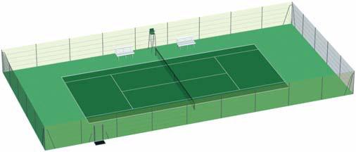 Cloture tennis cloture court de tennis grillage tennis for Taille d un terrain de tennis