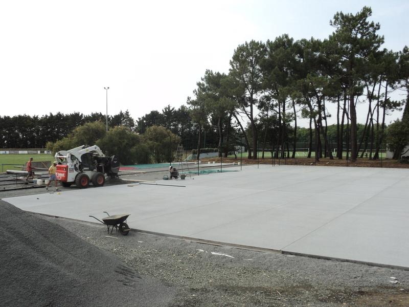 terrain multisports - sol en béton drainant - citystade