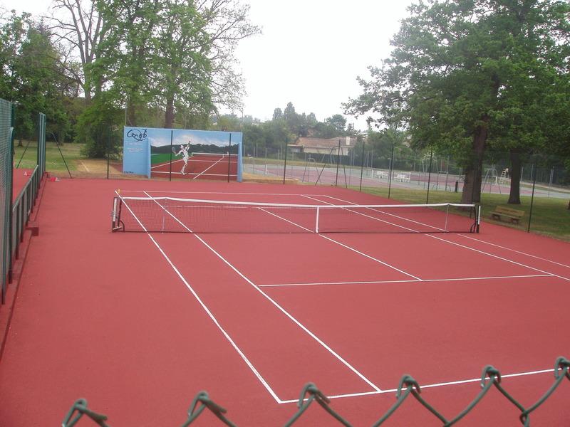 Court de tennis revêtement terre battue - Tec stone