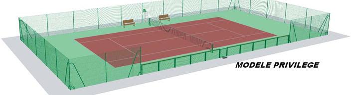 Grillage sportif grillage simple torsion sportif treillis soud - Dimensions d un terrain de tennis ...